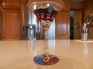 Texas Martini Glass
