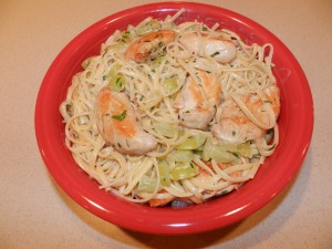 Tarragon Chicken with Grapes & Linguine