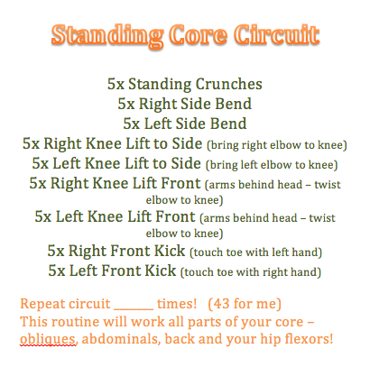 Standing Core Circuit