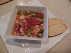Chicken & Rice Gumbo Soup