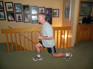 Lunge right (closing your eyes takes away the pain!)