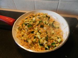Saute veggies