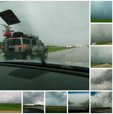 Check out the storm chaser!  Look how dark it is between 4 & 6 in the afternoon!!