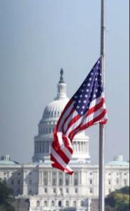 Flag - half mast