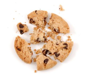 Life is like a cookie - sometimes it crumbles.
