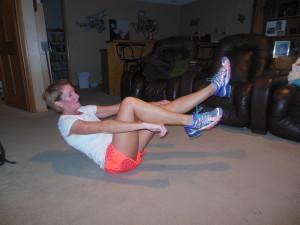 extend left leg