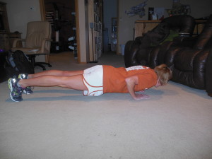 tricep push-ups (one of my weakest
