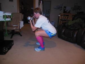 curl - stay in squat