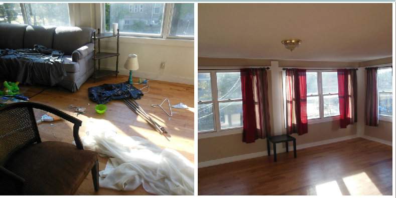 Living Room Before (L) & After (R)