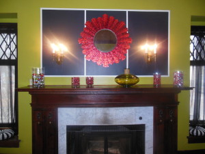 front room - mantel