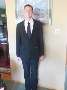 Jordan - dressed up for HS graduation